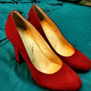 Crush Red Velvet high heels